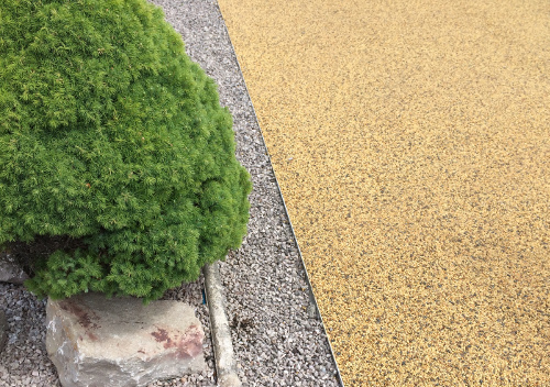 Resin bound stone surfacing.
